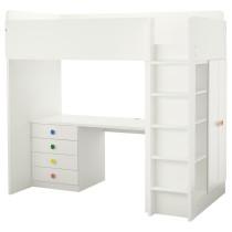Кровать-чердак, 4 ящика, 2 дверцы СТУВА / ФОЛЬЯ белый артикуль № 792.275.95 в наличии. Онлайн сайт IKEA Республика Беларусь. Быстрая доставка и соборка.