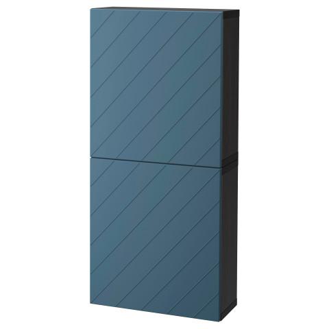 Навесной шкаф с 2 дверями БЕСТО темно-синий артикуль № 992.062.95 в наличии. Онлайн сайт IKEA Минск. Быстрая доставка и соборка.
