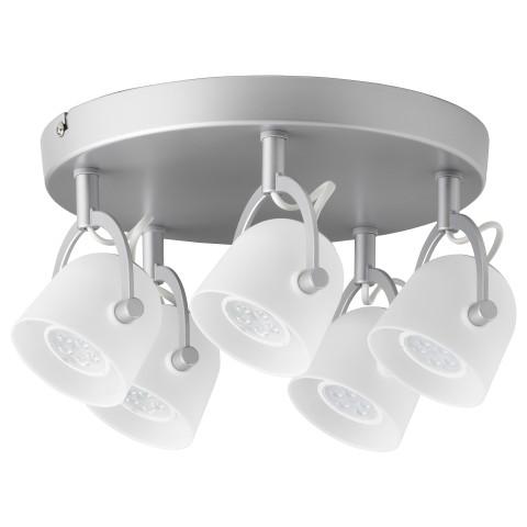 Потолочный софит, 5 ламп СВИРВЕЛЬ артикуль № 403.606.13 в наличии. Онлайн магазин IKEA Республика Беларусь. Недорогая доставка и установка.