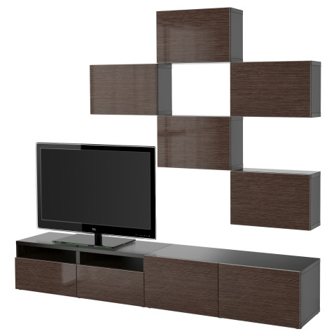 Шкаф для ТВ, комбинация БЕСТО артикуль № 191.915.37 в наличии. Интернет каталог IKEA Минск. Недорогая доставка и соборка.