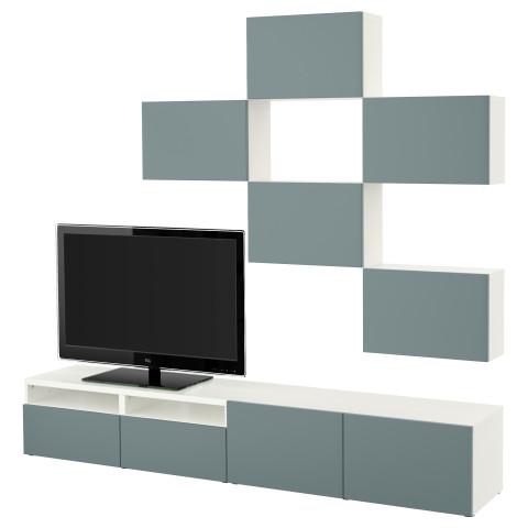 Шкаф для ТВ, комбинация БЕСТО белый артикуль № 191.916.60 в наличии. Online каталог IKEA Беларусь. Быстрая доставка и установка.