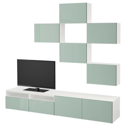 Шкаф для ТВ, комбинация БЕСТО белый артикуль № 292.020.88 в наличии. Online каталог IKEA Минск. Быстрая доставка и установка.