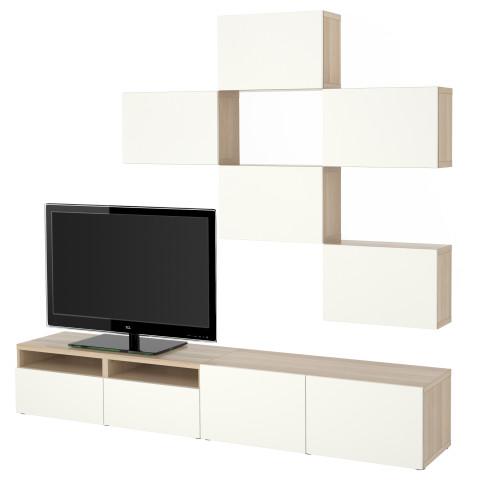 Шкаф для ТВ, комбинация БЕСТО белый артикуль № 591.916.63 в наличии. Онлайн сайт IKEA Минск. Быстрая доставка и соборка.