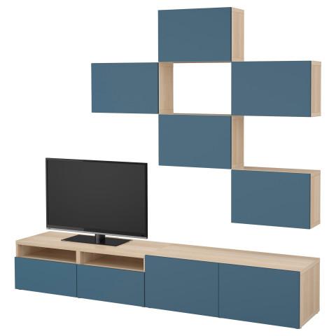 Шкаф для ТВ, комбинация БЕСТО темно-синий артикуль № 592.021.19 в наличии. Online каталог IKEA Минск. Быстрая доставка и установка.
