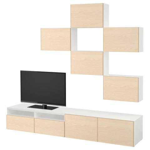 Шкаф для ТВ, комбинация БЕСТО белый артикуль № 692.074.42 в наличии. Интернет сайт IKEA РБ. Недорогая доставка и монтаж.