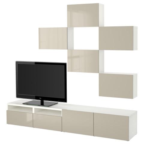 Шкаф для ТВ, комбинация БЕСТО белый артикуль № 791.915.77 в наличии. Online сайт IKEA РБ. Быстрая доставка и установка.