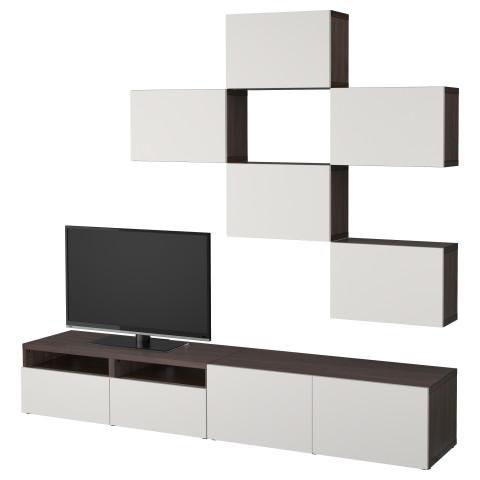 Шкаф для ТВ, комбинация БЕСТО светло-серый артикуль № 792.020.43 в наличии. Интернет сайт IKEA Минск. Быстрая доставка и соборка.