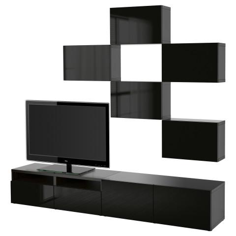 Шкаф для ТВ, комбинация БЕСТО артикуль № 891.915.34 в наличии. Online каталог IKEA Минск. Быстрая доставка и установка.