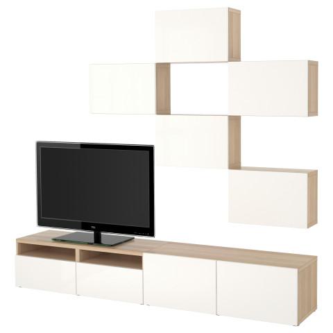Шкаф для ТВ, комбинация БЕСТО артикуль № 991.915.95 в наличии. Онлайн магазин IKEA Беларусь. Недорогая доставка и соборка.