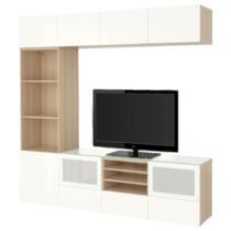 Шкаф для ТВ, комбинированный, стекляные дверцы БЕСТО артикуль № 191.967.14 в наличии. Интернет магазин IKEA Беларусь. Быстрая доставка и монтаж.