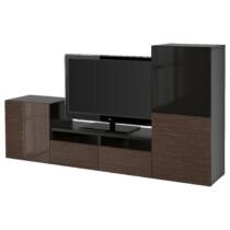 Шкаф для ТВ, комбинированный, стекляные дверцы БЕСТО артикуль № 291.901.27 в наличии. Онлайн каталог IKEA РБ. Недорогая доставка и установка.