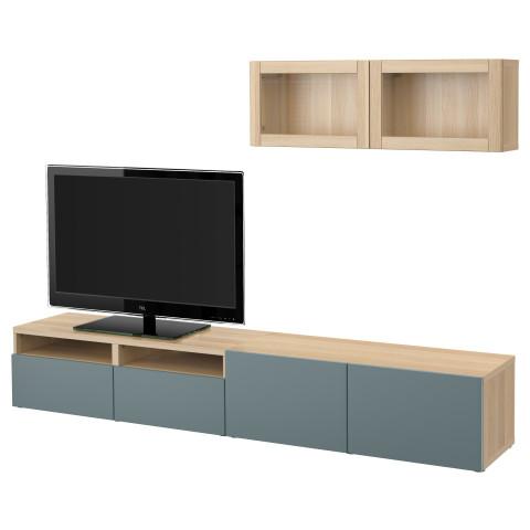 Шкаф для ТВ, комбинированный, стекляные дверцы БЕСТО артикуль № 791.908.46 в наличии. Онлайн сайт IKEA Республика Беларусь. Недорогая доставка и установка.