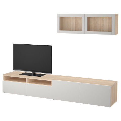 Шкаф для ТВ, комбинированный, стекляные дверцы БЕСТО артикуль № 792.016.99 в наличии. Интернет магазин IKEA Беларусь. Быстрая доставка и установка.