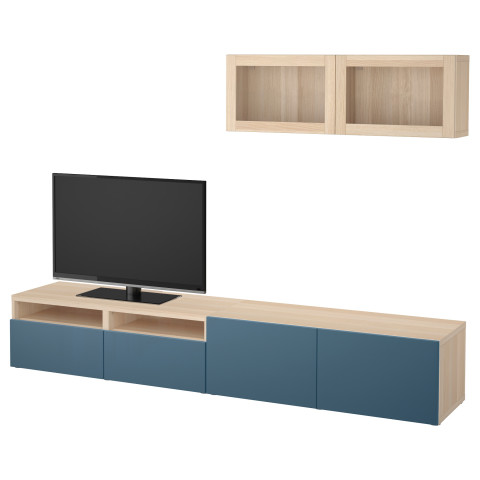 Шкаф для ТВ, комбинированный, стекляные дверцы БЕСТО темно-синий артикуль № 792.017.55 в наличии. Интернет сайт IKEA РБ. Недорогая доставка и соборка.