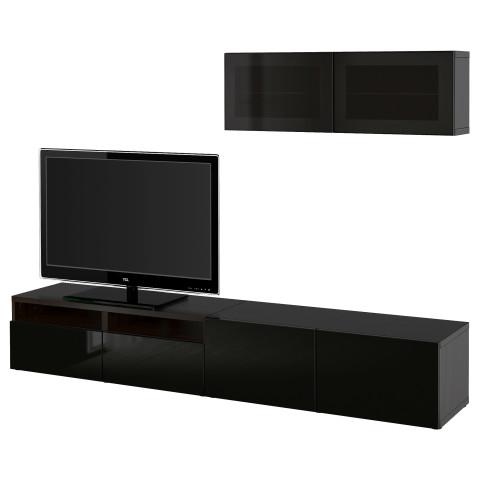 Шкаф для ТВ, комбинированный, стекляные дверцы БЕСТО артикуль № 891.904.31 в наличии. Онлайн каталог IKEA Минск. Быстрая доставка и монтаж.