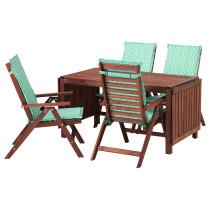 Стол + 4 кресла, для сада ЭПЛАРО зеленый артикуль № 292.192.44 в наличии. Интернет магазин IKEA Республика Беларусь. Быстрая доставка и установка.