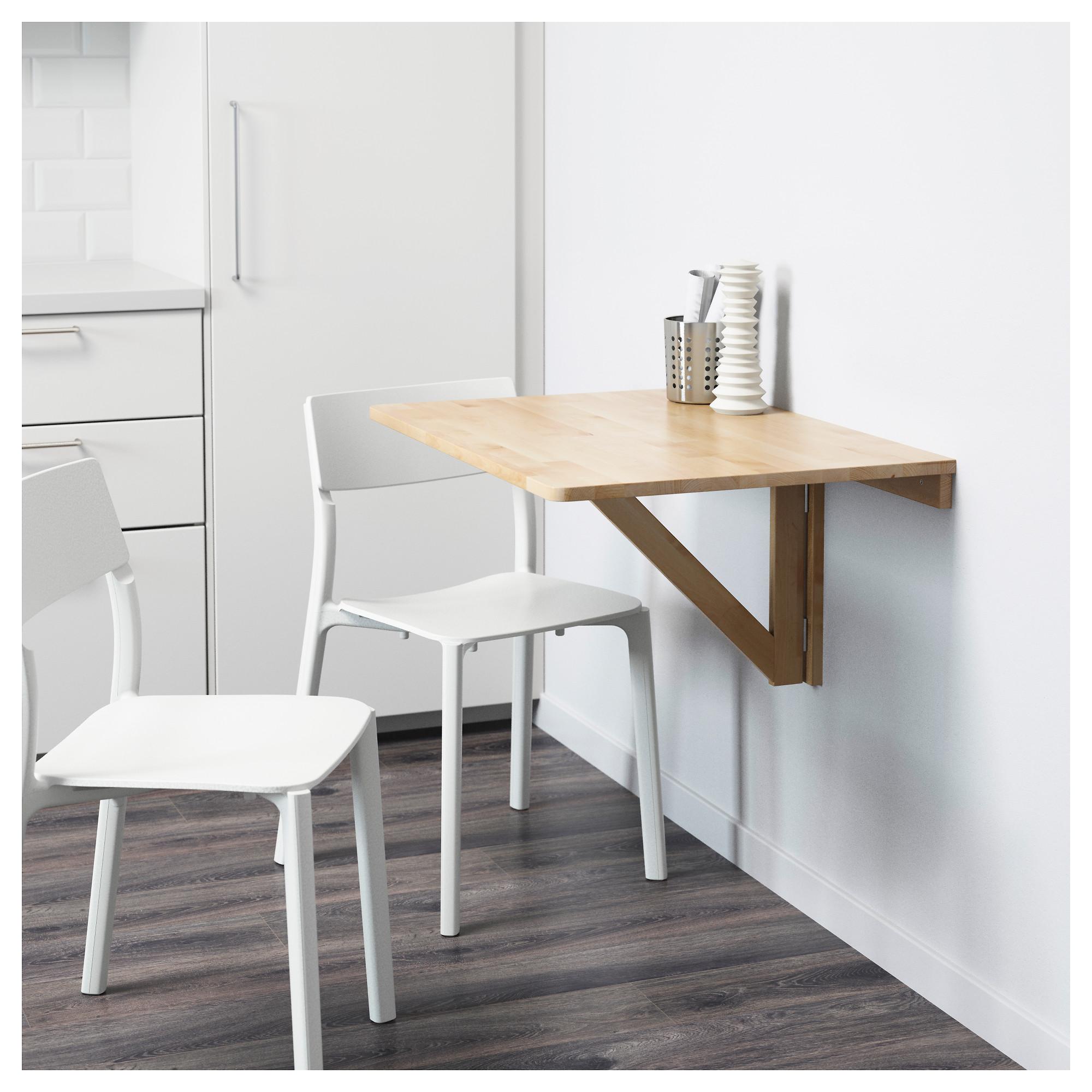 Купить стол откидной стенного крепежа норбу, береза в икеа (.