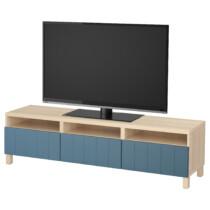 Тумба для ТВ с ящиками БЕСТО темно-синий артикуль № 992.058.04 в наличии. Онлайн магазин IKEA Минск. Быстрая доставка и установка.