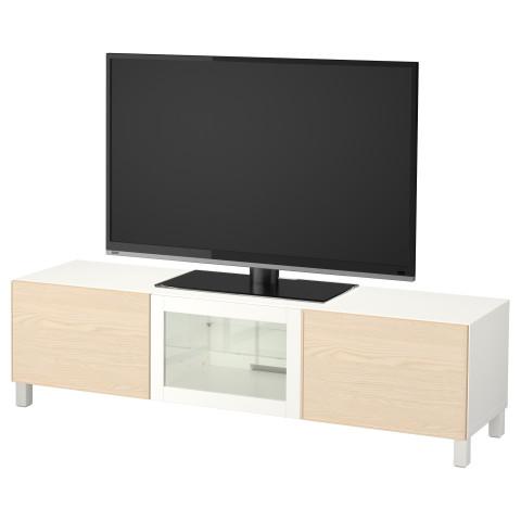 Тумба под ТВ с ящиками и дверцей БЕСТО белый артикуль № 792.063.95 в наличии. Онлайн каталог IKEA РБ. Быстрая доставка и соборка.