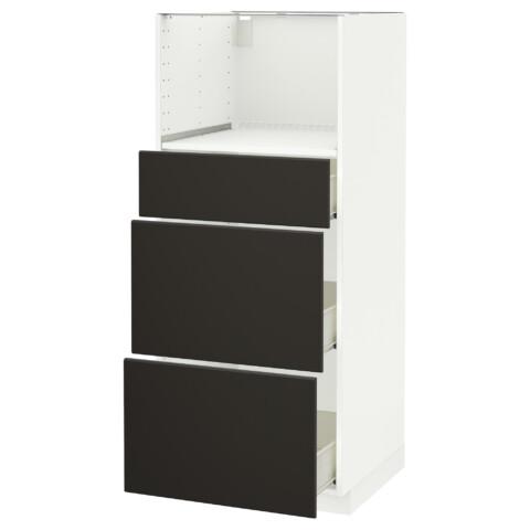 Высокий шкаф для СВЧ с 3 ящиками МЕТОД / ФОРВАРА белый артикуль № 692.197.65 в наличии. Интернет магазин IKEA Минск. Недорогая доставка и установка.