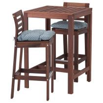 Барный стол и 2 барных стула ЭПЛАРО синий артикуль № 391.835.60 в наличии. Интернет каталог IKEA Республика Беларусь. Недорогая доставка и установка.