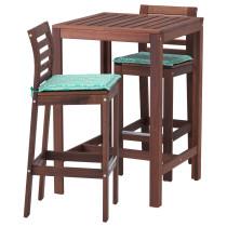 Барный стол и 2 барных стула ЭПЛАРО зеленый артикуль № 392.192.10 в наличии. Онлайн сайт IKEA Республика Беларусь. Быстрая доставка и установка.