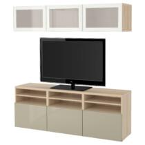 Шкаф для ТВ, комбинированный, стекляные дверцы БЕСТО артикуль № 091.945.17 в наличии. Интернет магазин IKEA РБ. Быстрая доставка и соборка.