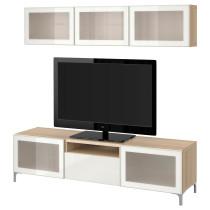 Шкаф для ТВ, комбинированный, стекляные дверцы БЕСТО артикуль № 591.906.06 в наличии. Online сайт IKEA РБ. Быстрая доставка и установка.