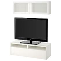 Шкаф для ТВ, комбинированный, стекляные дверцы БЕСТО белый артикуль № 891.893.62 в наличии. Онлайн каталог IKEA Беларусь. Недорогая доставка и установка.