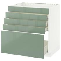 Напольный шкаф для варочной панели, 5 фасадов, 4 ящиков МЕТОД / ФОРВАРА белый артикуль № 092.456.68 в наличии. Интернет сайт IKEA Минск. Недорогая доставка и установка.