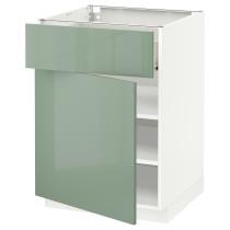 Напольный шкаф с ящиком, дверью МЕТОД / ФОРВАРА белый артикуль № 892.456.26 в наличии. Онлайн сайт IKEA Минск. Недорогая доставка и установка.