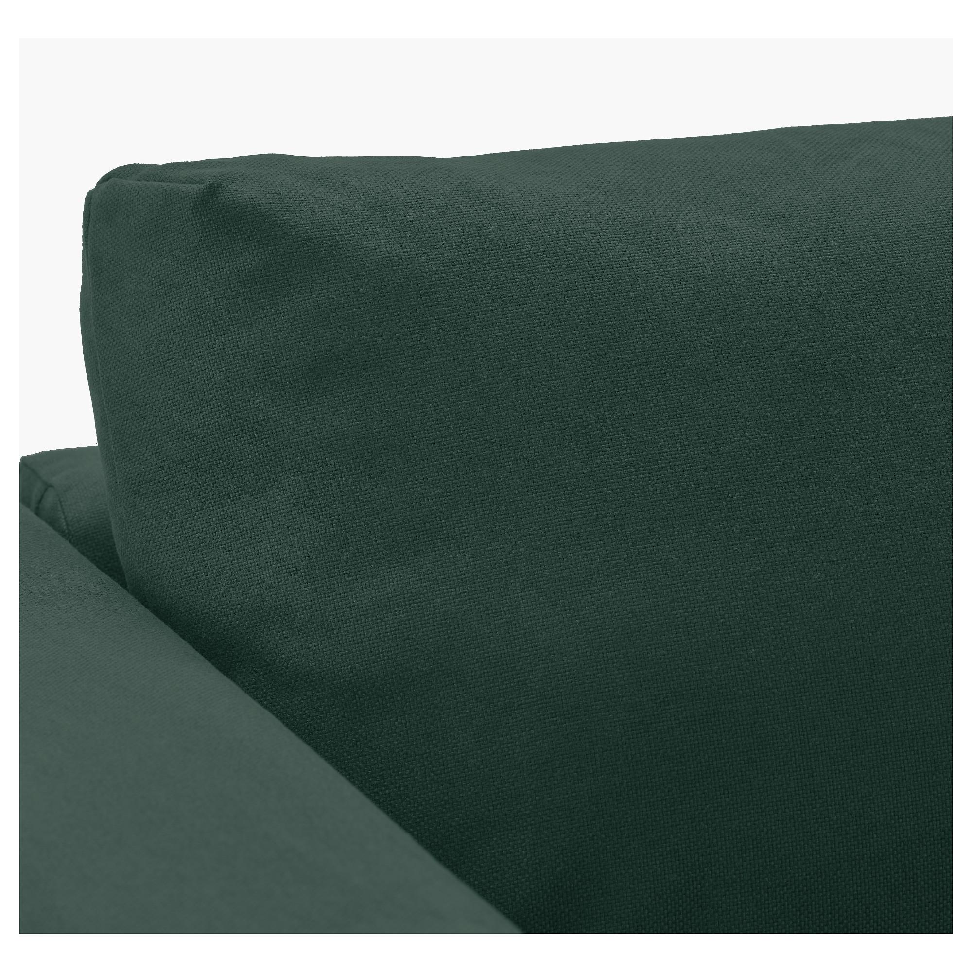 d13e03bd8aa7 Купить 3-местный диван ВИМЛЕ, с козеткой, Гуннаред темно-зеленый в ...