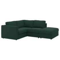 3-местный угловой диван ВИМЛЕ темно-зеленый артикуль № 792.115.56 в наличии. Онлайн сайт IKEA Минск. Недорогая доставка и установка.