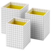 Набор коробок, 3 шт. ХЕЙСАН артикуль № 803.744.58 в наличии. Online каталог IKEA Минск. Недорогая доставка и монтаж.