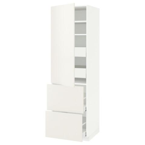 Высокий шкаф + полки, 4 ящика, 2 дверцы МЕТОД / МАКСИМЕРА белый артикуль № 891.690.43 в наличии. Интернет магазин IKEA Беларусь. Быстрая доставка и монтаж.