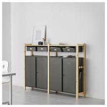 2 секции, полки/шкафы ИВАР серый артикуль № 592.304.81 в наличии. Online магазин IKEA РБ. Быстрая доставка и соборка.
