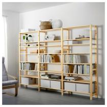 3 секции, полки ИВАР артикуль № 792.304.99 в наличии. Онлайн магазин IKEA РБ. Быстрая доставка и соборка.