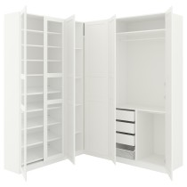 Гардероб угловой ПАКС белый артикуль № 992.179.82 в наличии. Онлайн магазин IKEA Республика Беларусь. Быстрая доставка и установка.