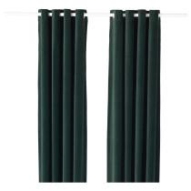 Гардины, 1 пара САНЕЛА темно-зеленый артикуль № 603.626.06 в наличии. Онлайн каталог IKEA Минск. Быстрая доставка и монтаж.