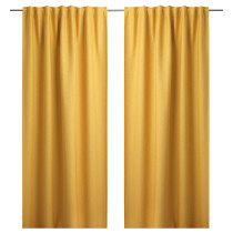 Гардины, 1 пара ВИЛБОРГ желтый артикуль № 603.801.96 в наличии. Онлайн каталог IKEA РБ. Недорогая доставка и соборка.