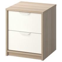 Комод с 2 ящиками АСКВОЛЬ белый артикуль № 103.684.08 в наличии. Онлайн магазин IKEA Беларусь. Быстрая доставка и соборка.