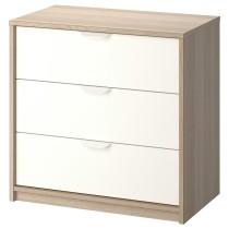 Комод с 3 ящиками АСКВОЛЬ белый артикуль № 903.684.09 в наличии. Онлайн сайт IKEA РБ. Быстрая доставка и монтаж.