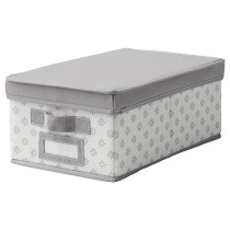Коробка с крышкой СВИРА артикуль № 403.750.73 в наличии. Онлайн сайт ИКЕА Беларусь. Недорогая доставка и установка.