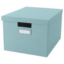 Коробка с крышкой ТЬЕНА голубой артикуль № 503.890.36 в наличии. Онлайн сайт IKEA РБ. Быстрая доставка и монтаж.