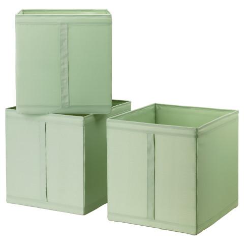 Коробка СКУББ светло-зеленый артикуль № 203.966.08 в наличии. Онлайн магазин ИКЕА Беларусь. Недорогая доставка и соборка.