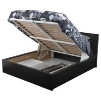 Кровать с подъемным механизмом МАЛЬМ черно-коричневый артикуль № 003.799.97 в наличии. Интернет сайт ИКЕА РБ. Быстрая доставка и установка.