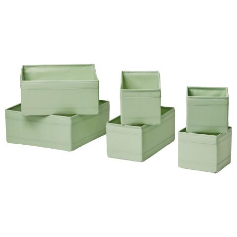 Набор коробок, 6 шт. СКУББ светло-зеленый артикуль № 603.966.06 в наличии. Интернет сайт IKEA Республика Беларусь. Быстрая доставка и монтаж.