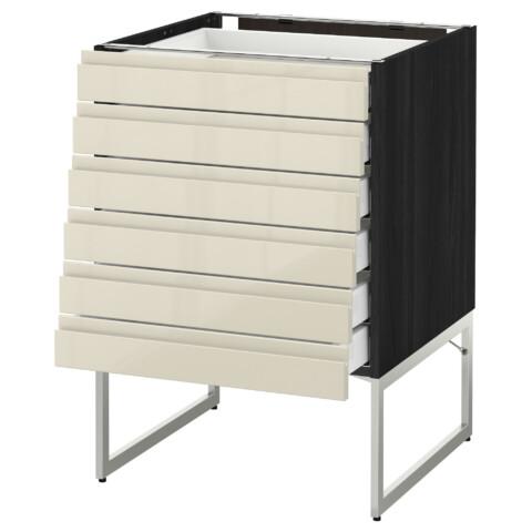 Напольный шкаф 6 фронтальных панелей, 6 нижних ящиков МЕТОД / МАКСИМЕРА черный артикуль № 691.680.87 в наличии. Онлайн магазин IKEA РБ. Недорогая доставка и монтаж.