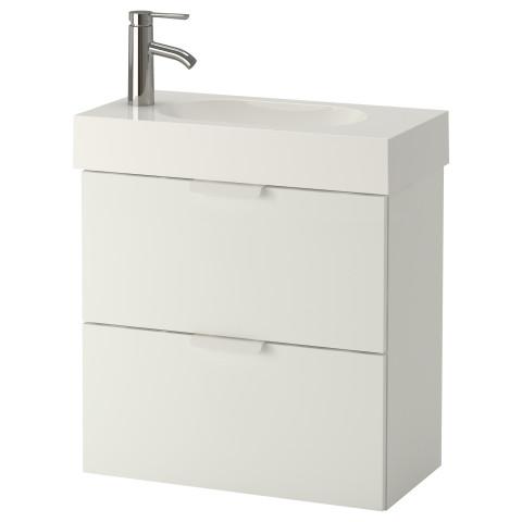 Шкаф для раковины с 2 ящиками ГОДМОРГОН / БРОВИКЕН белый артикуль № 691.979.66 в наличии. Онлайн каталог IKEA Минск. Быстрая доставка и соборка.
