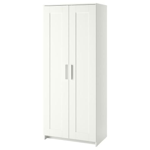 Шкаф платяной 2-дверный БРИМНЭС белый артикуль № 403.697.79 в наличии. Интернет магазин ИКЕА Беларусь. Быстрая доставка и монтаж.